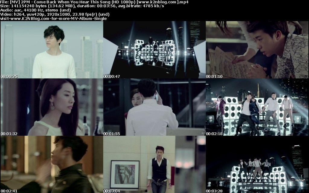 [MV] 2PM   Come Back When You Hear This Song [HD 1080p Youtube]